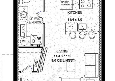 The Brooklyn basement suite income property layout